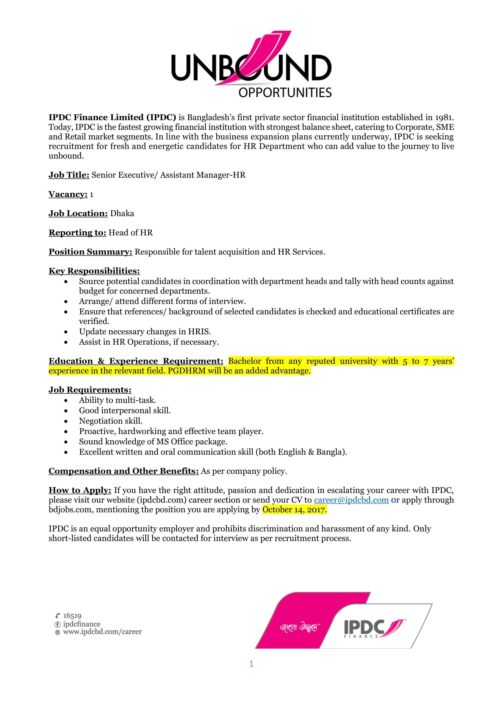 job description for line management position essay